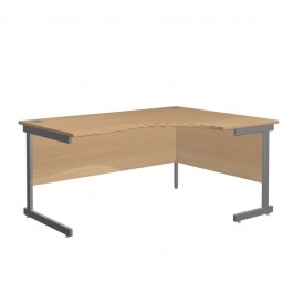 Northampton range of office furniture Cantilever RightHand Radial Shaped Workstations