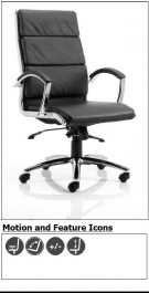 The Daventry High Back Black Leather Executive Office Chair
