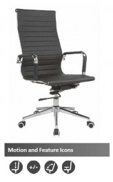 The Brixworth High Back Faux Leather Executive Chair Black