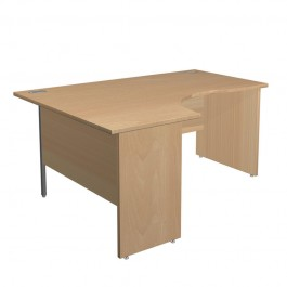 Northampton range of office furniture Panel Ended Left Hand Radial Shaped Workstations
