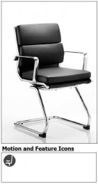 Raunds Black Cantilever Chrome Frame Leather Executive Office Chair