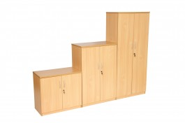 HARTWELL ENDURANCE range cupboards 1,2&4 shelf in beech
