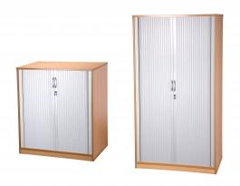 HARTWELL ENDURANCE tambour cupboard (2 & 5 shelf) beech
