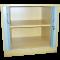 HARTWELL ENDURANCE desk high tambour cupboard (1 shelf) light oak