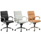Daventry Medium Back Executive Office Chair Black Ivory Tan